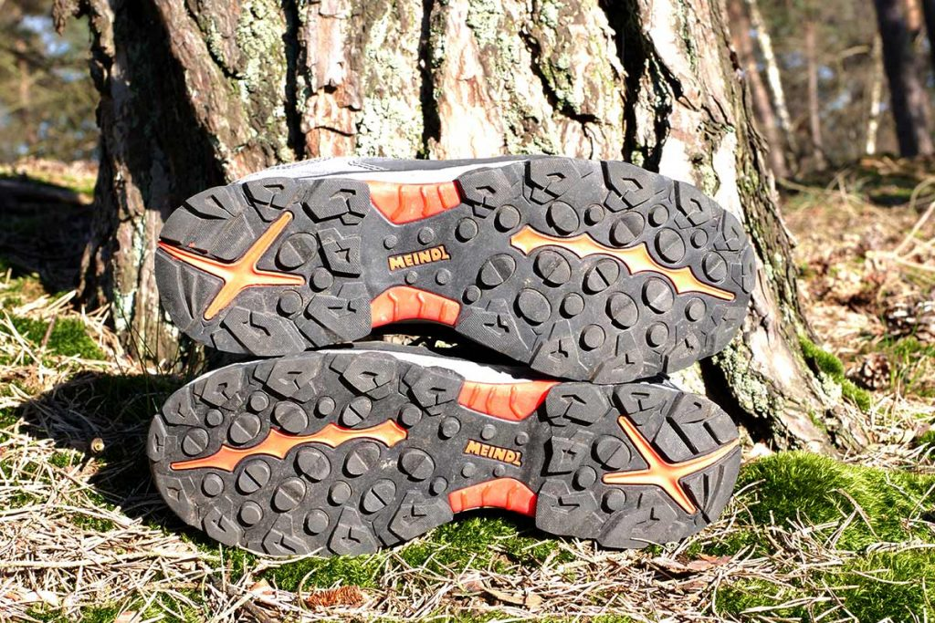 The Meindl Lite Trail GTX is equipped with the Lite Trail Rubber Grip outsole.