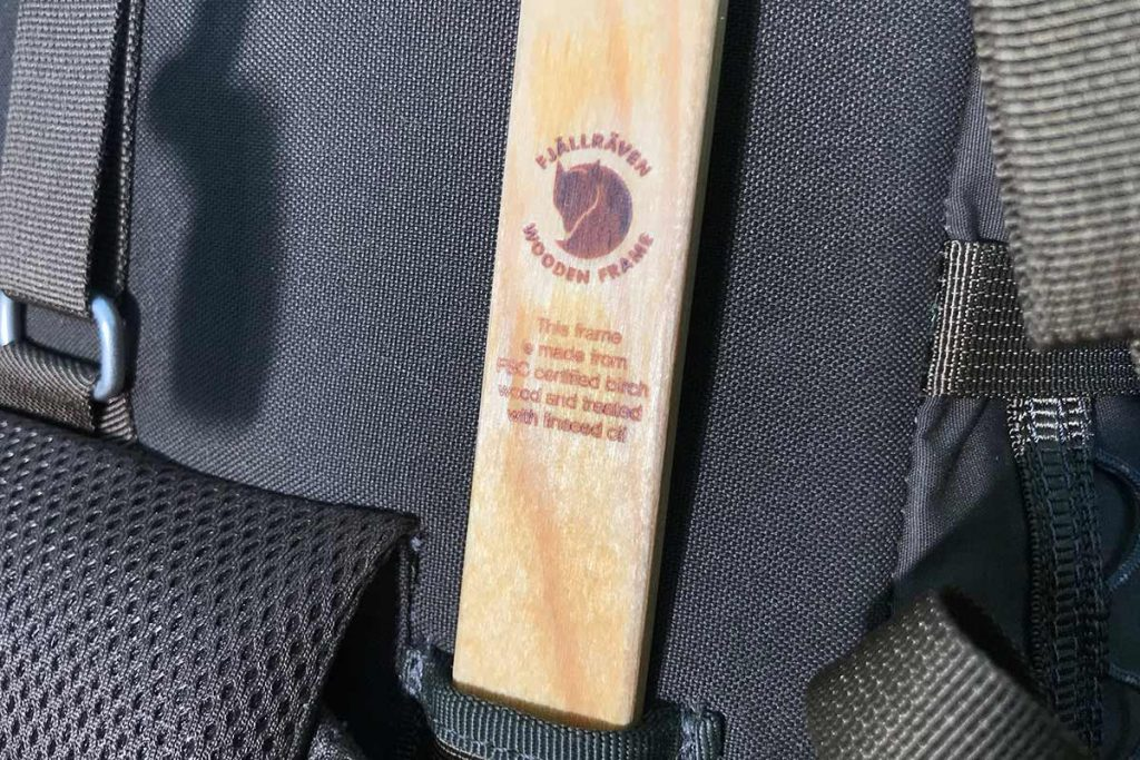 The Fjällräven Singi 48 has a wooden backbone.