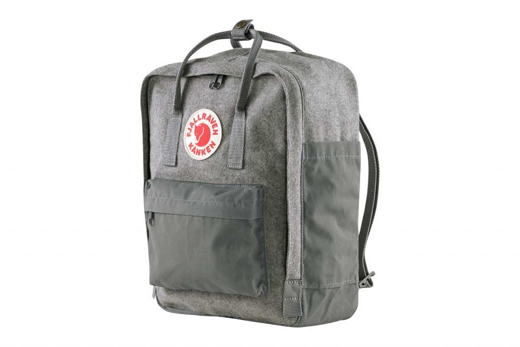 The Fjällräven Kånken Re-Wool backpack (16 liters).