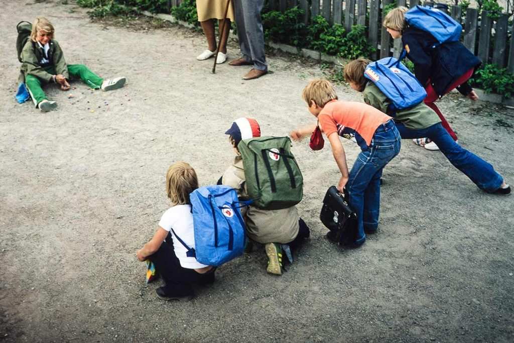 In the late 1970s the Kånken was Fjällräven's answer to traditional school bags.