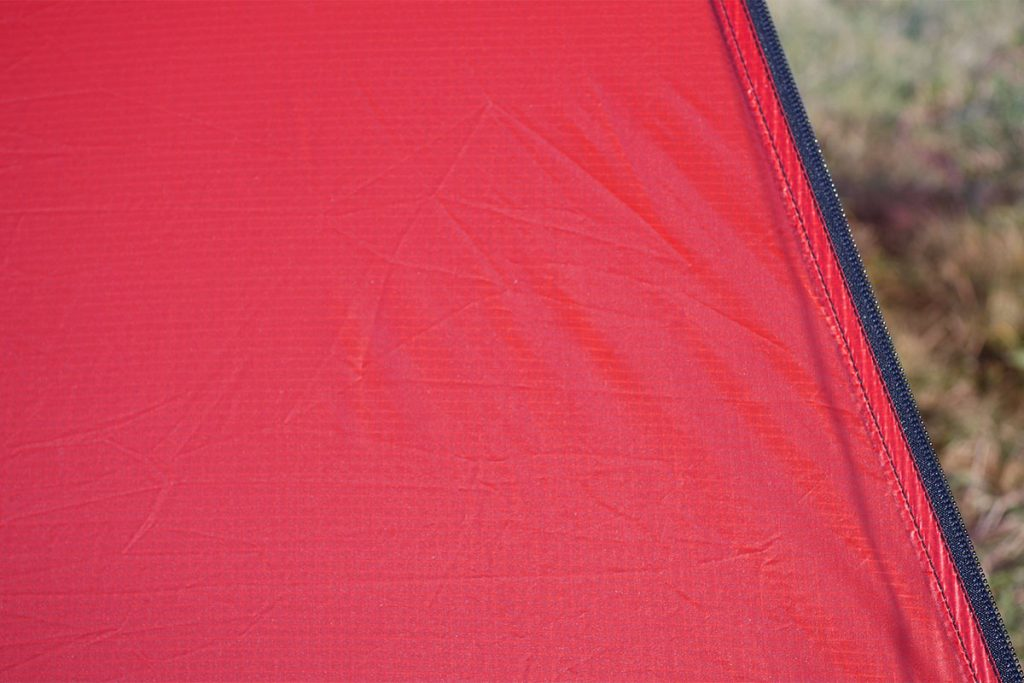 The small squares: the Kerlon 1000 is a ripstop nylon fabric.