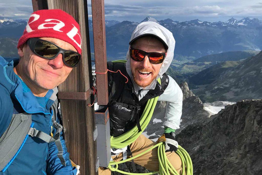 The summit of the Swiss Piz Medel.