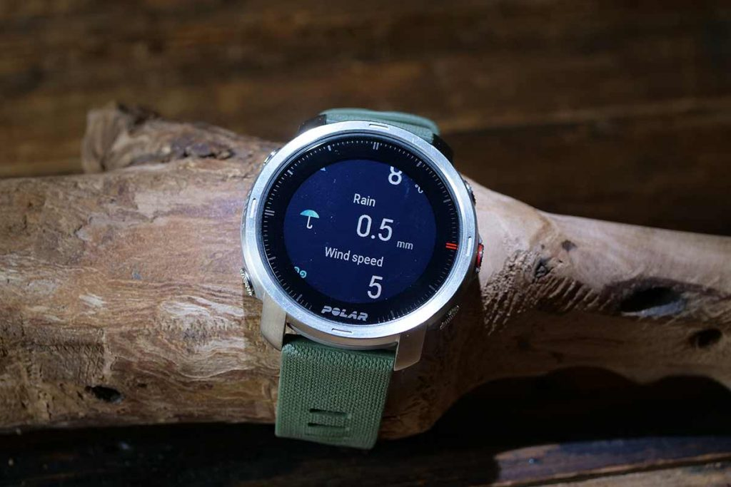 The watch gives weather data from a open source provider.