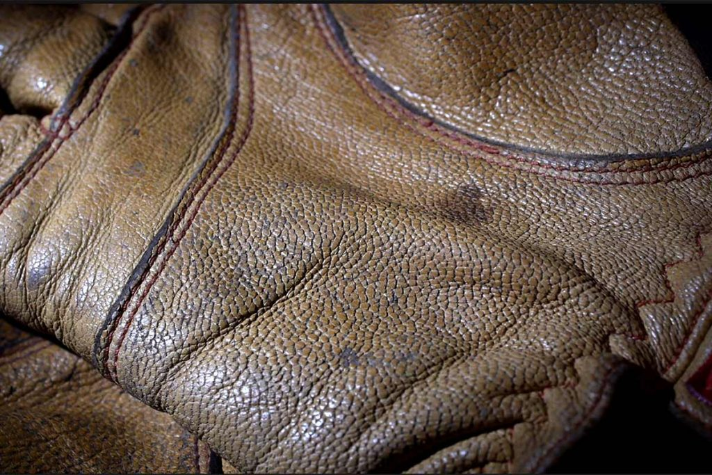The Hestra Ergo Grip Active Gloves are made from goat leather. Note the fine graining.