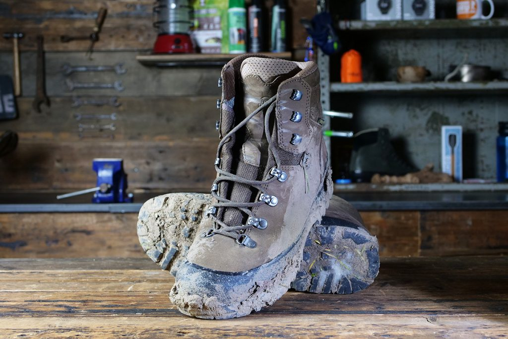 My backpacking boots before cleaning...