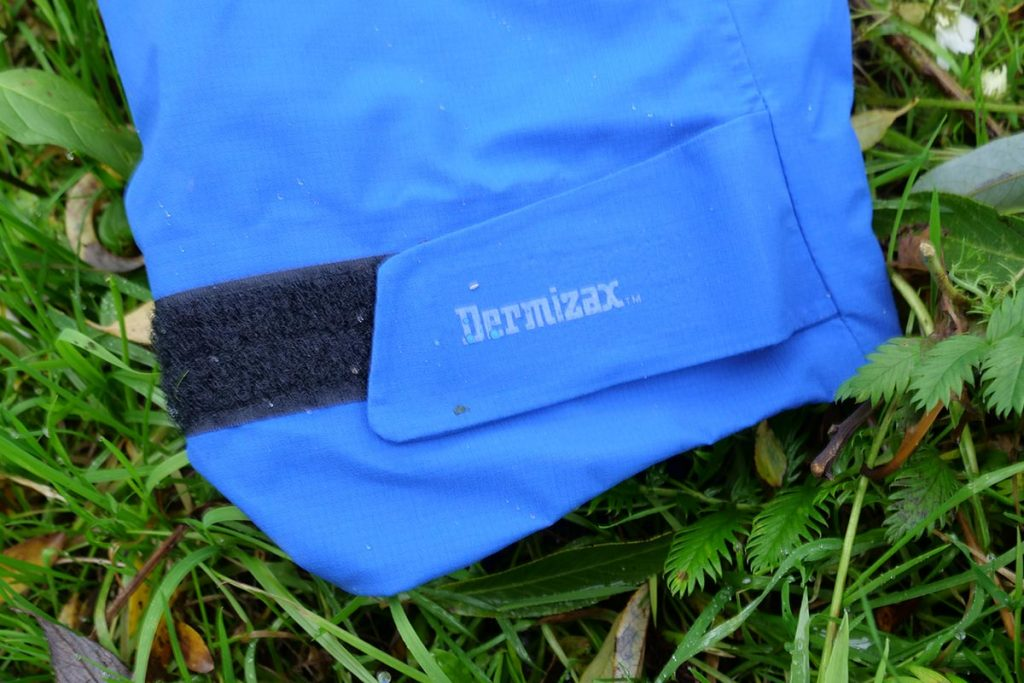 The Bergans Slingsby 3L Jacket is made of two different Dermizax materials.