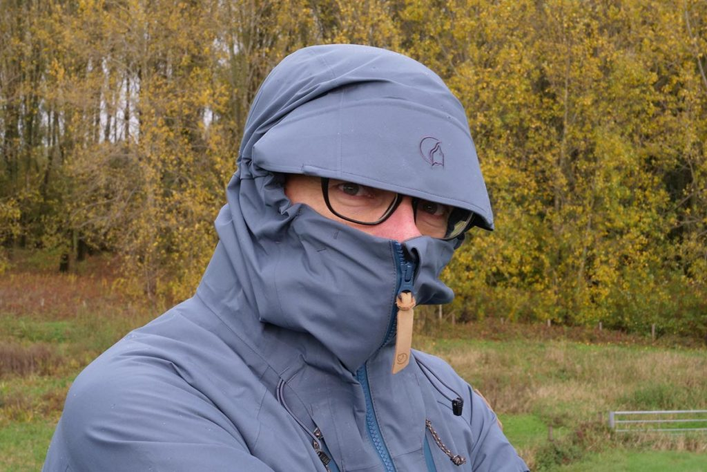 The hood of the Fjällräven Keb Eco-Shell Jacket is particularly spacious.