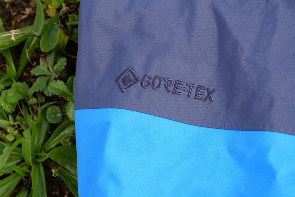 The Haglöfs Roc Spire Jacket uses a breathable and waterproof Gore-Tex membrane.